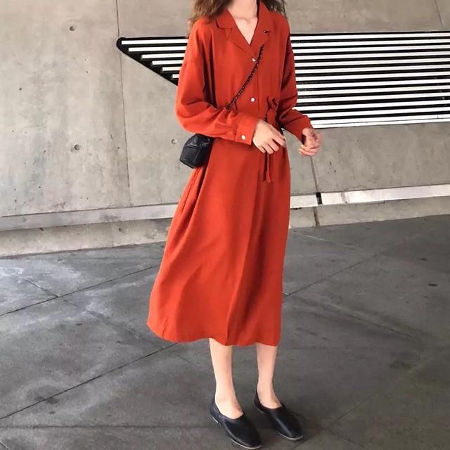 [SIÊU RẺ] M265 Váy sơ mi nữ dáng dài suông (ORD QC) - (hàng loại A) | SaleOff247