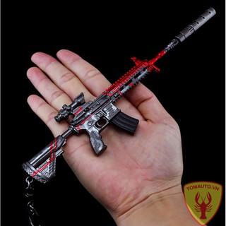 Mô hình súng M416 skin đỏ 16cm