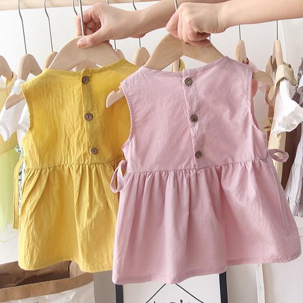 Đầm bé gái kate họa tiết pastel siêu xinh J238