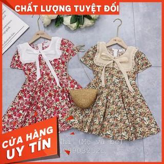 Váy Cho Bé Gái 🍀 Váy Hoa Cổ Bèo Cho Bé( Kèm Ảnh Thật)