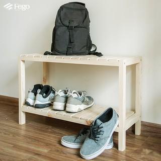 Giá để giày dép 2 tầng bằng gỗ thông/ Kệ giày gỗ thông tự nhiên 3 tầng