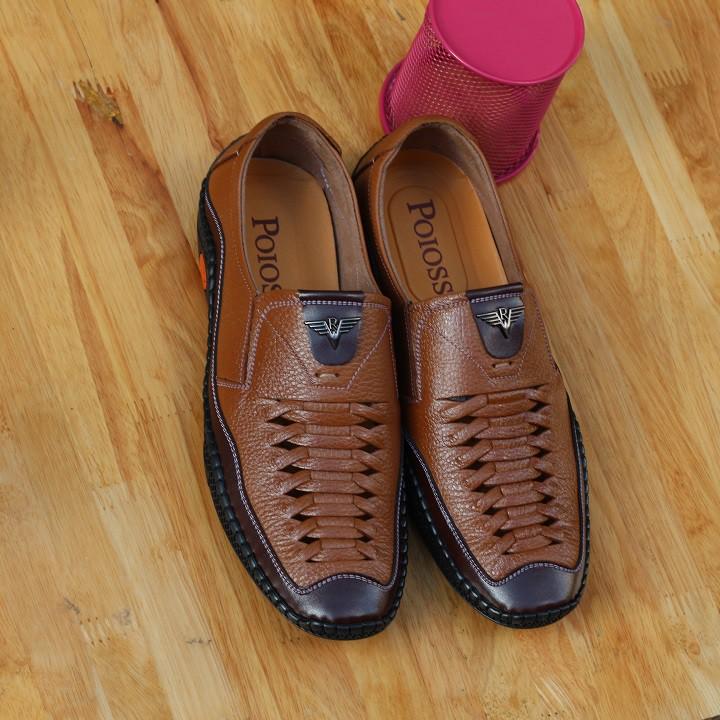 Giày lười nam da bò R04 [ BẢO HÀNH 12 THÁNG]