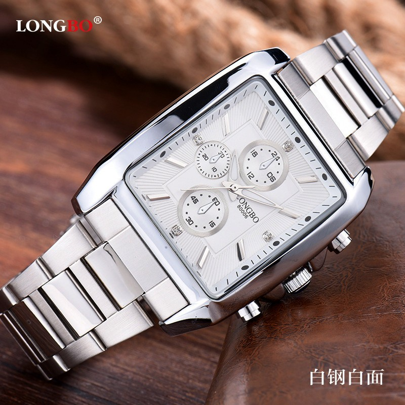 Đồng hồ nam mặt chữ nhật dây thép cao cấp LONGBO 5699 - 2540715 , 112220639 , 322_112220639 , 399000 , Dong-ho-nam-mat-chu-nhat-day-thep-cao-cap-LONGBO-5699-322_112220639 , shopee.vn , Đồng hồ nam mặt chữ nhật dây thép cao cấp LONGBO 5699