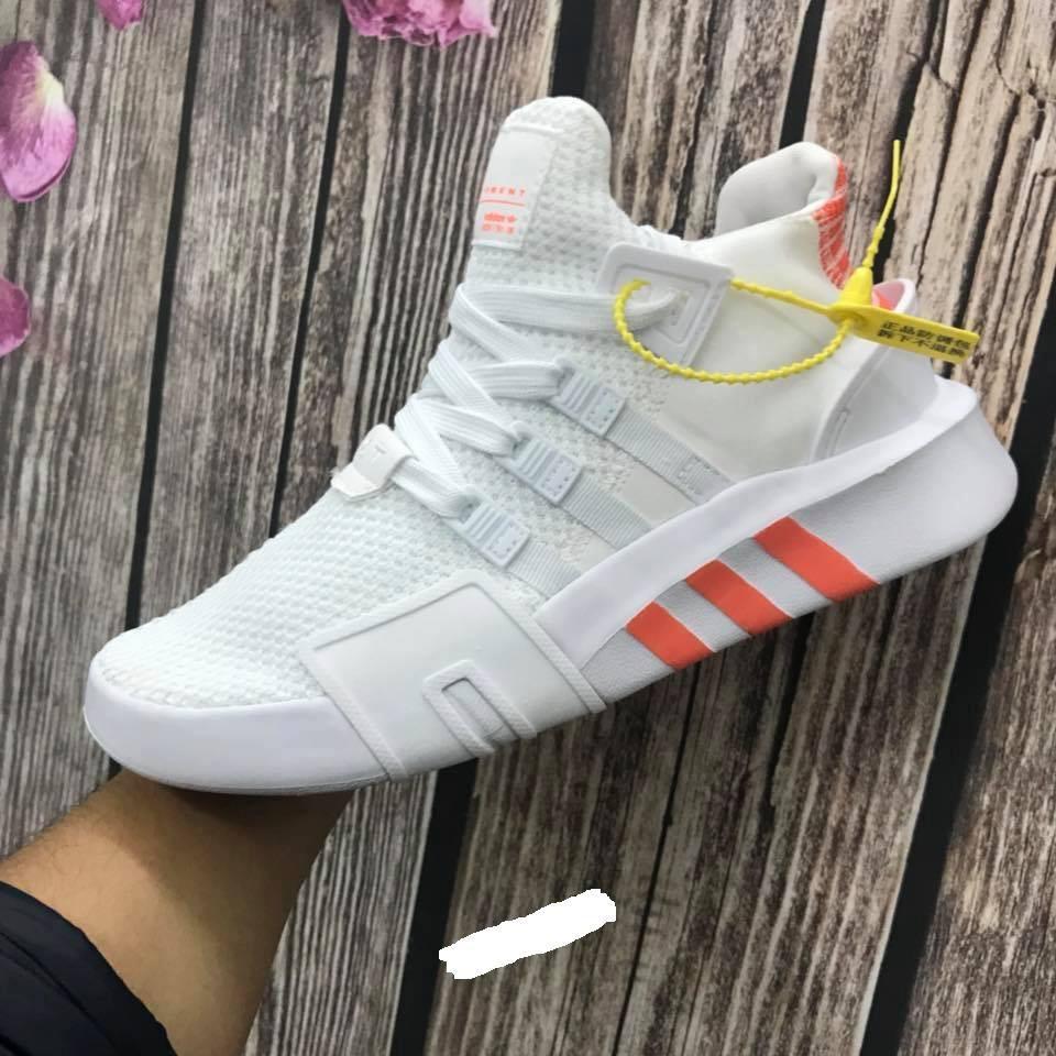 Giày Thể Thao EQT trắng cam 2018