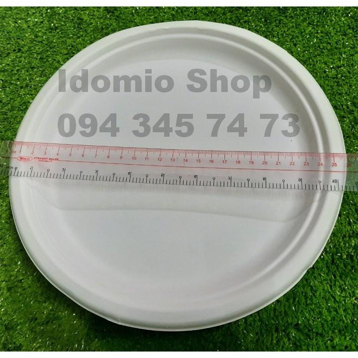 Đĩa Giấy Bã Mía  26cm (10 cái/xấp)