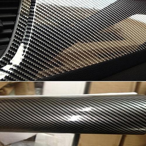 Miếng dán sợi cacbon 5D trang trí xe hơi , kích thước 30x152cm