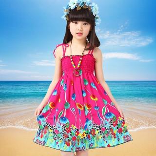 Đầm đi biển cho bé gái