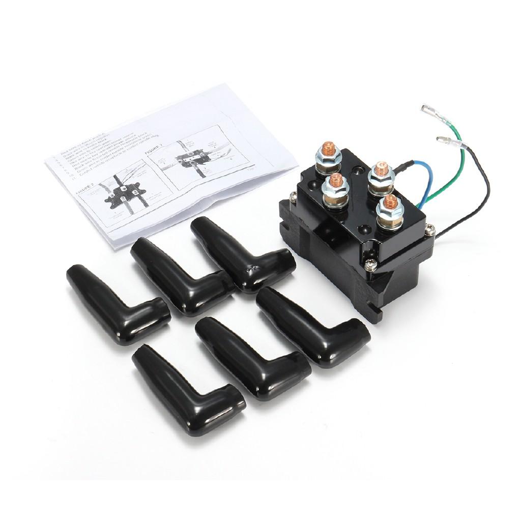 12V Solenoid Relay Contactor Winch Rocker Switch For WARN Vantage 2000-3000lbs Provantage 2500-3500lbs