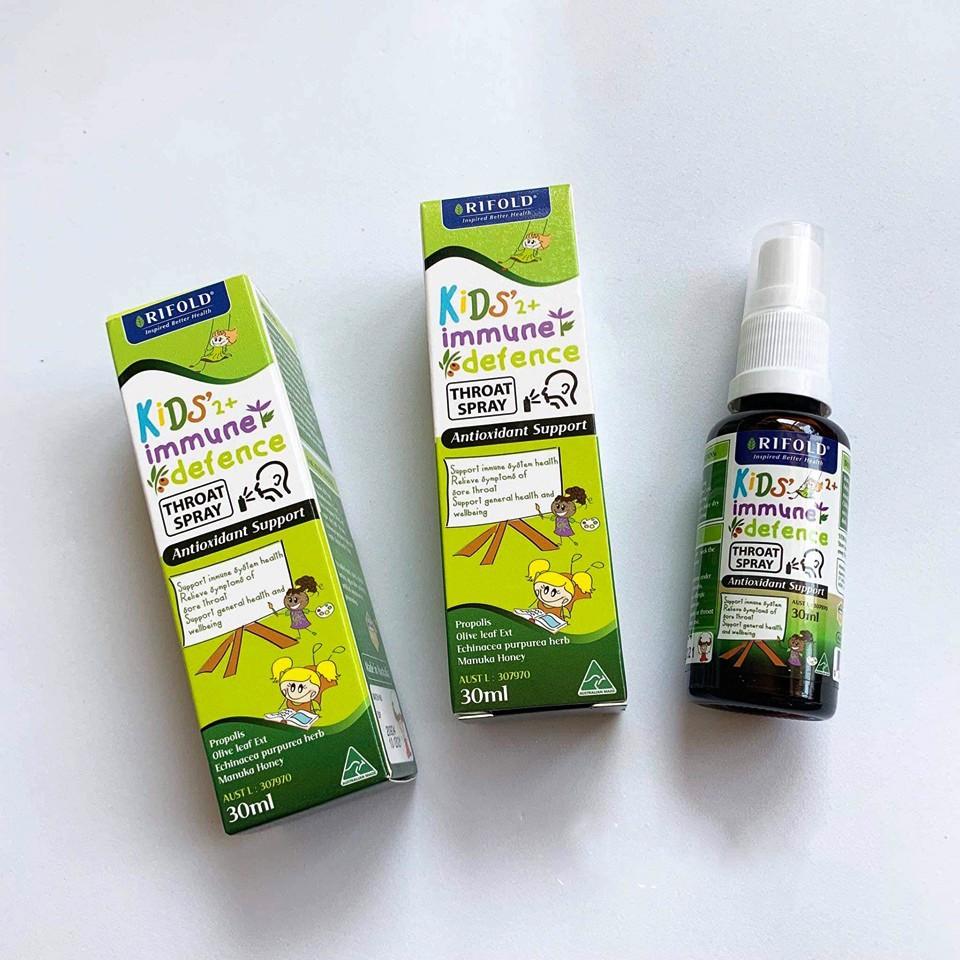 Xịt chống viêm họng Rifold Kid's Immune Defence - 30ml | Shopee ...