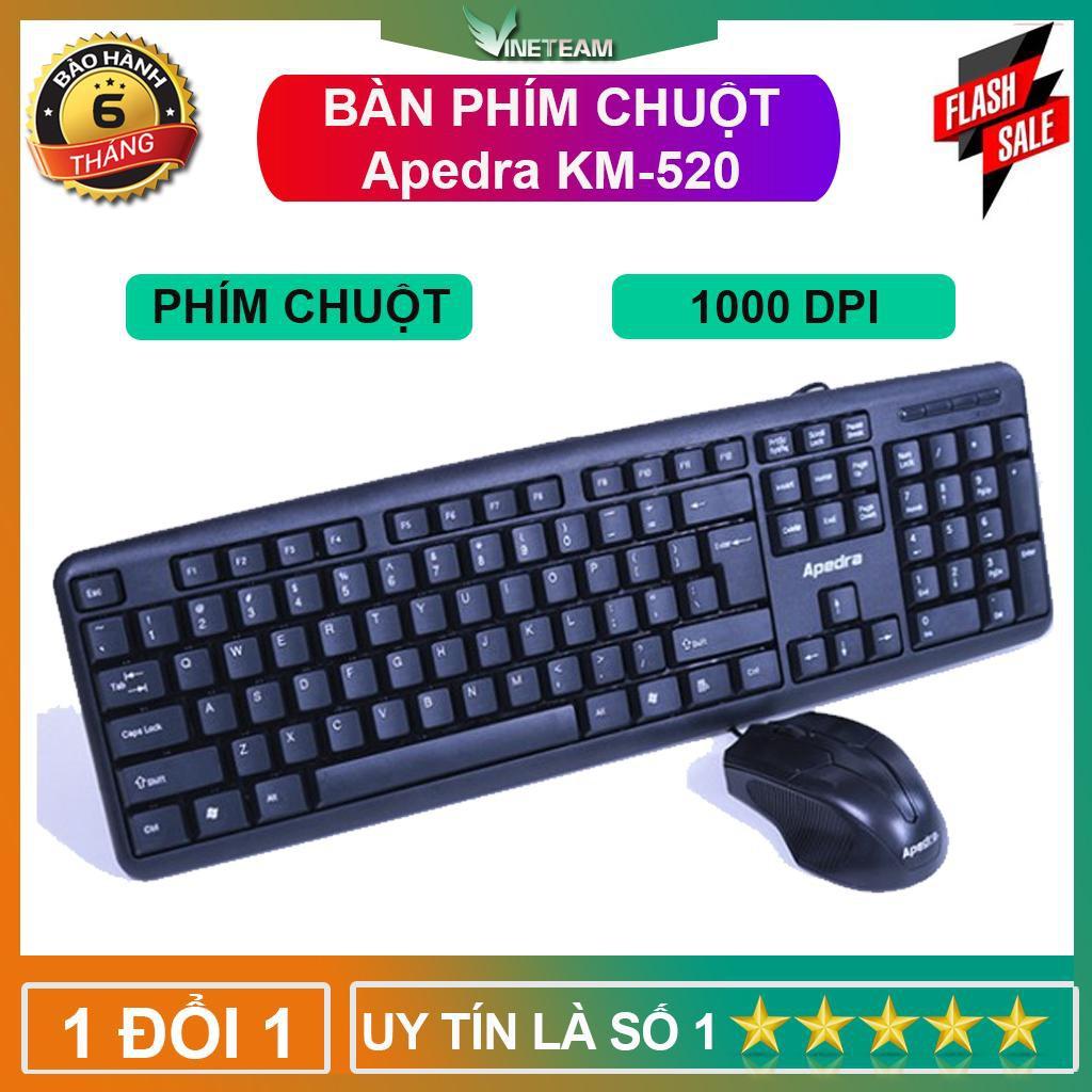 Bộ bàn phím chuột văn phòng Apedra KM-520 -DC3231