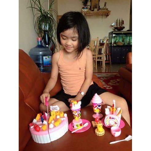 Bộ đồ chơi cắt bánh sinh nhật cho bé loại to