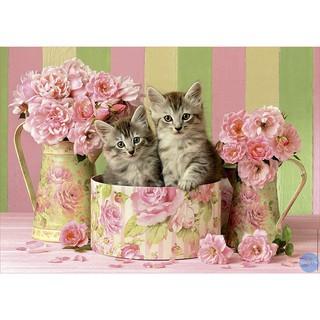 Bộ Đồ Chơi Ghép Hình 500 Mảnh Hình Mèo Và Hoa Hồng
