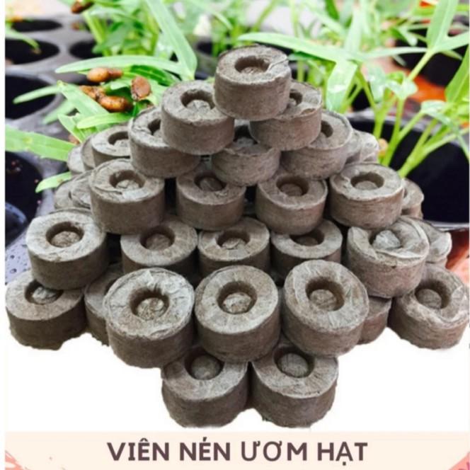 Bộ 10 viên nén ươm hạt - Viên nén xơ dừa
