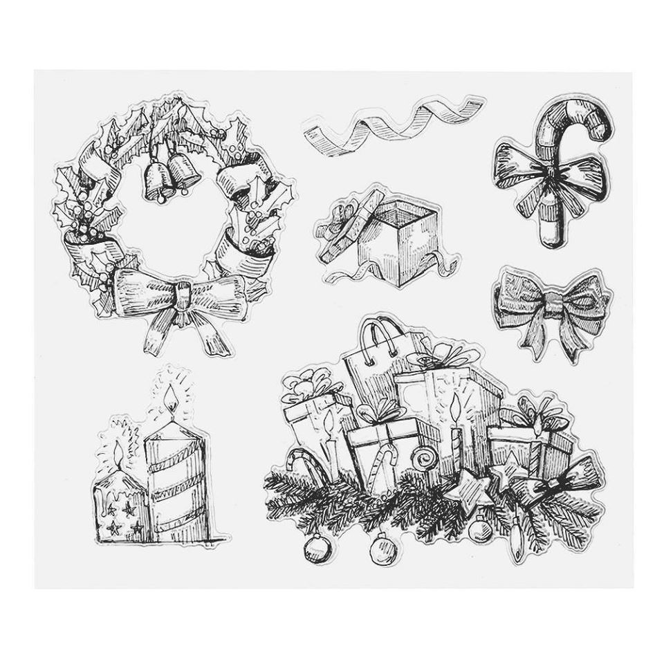Con dấu trong suốt clear stamp - Giáng sinh