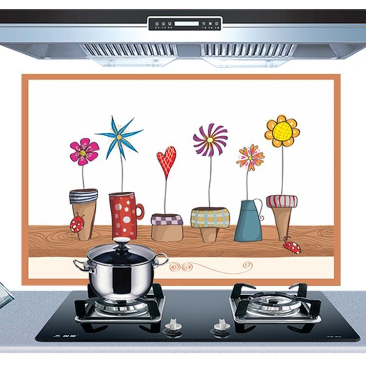Giấy dán tường nhà bếp, miếng dán bếp chống bắn dầu mỡ, chịu nhiệt cao, giúp trang trí bếp thêm hiện đại