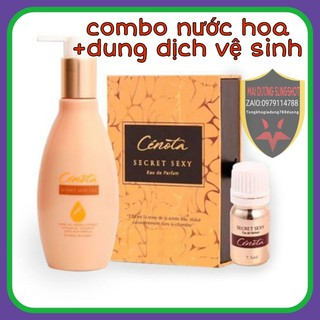 Combo Dung dịch vệ sinh Cenota + Nước Hoa Vùng Kín Cenota Secret Sexy thumbnail