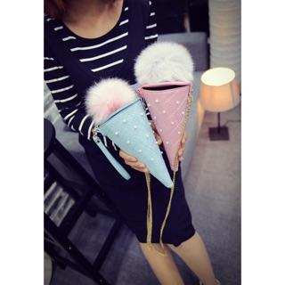 Túi đeo chéo kem bông