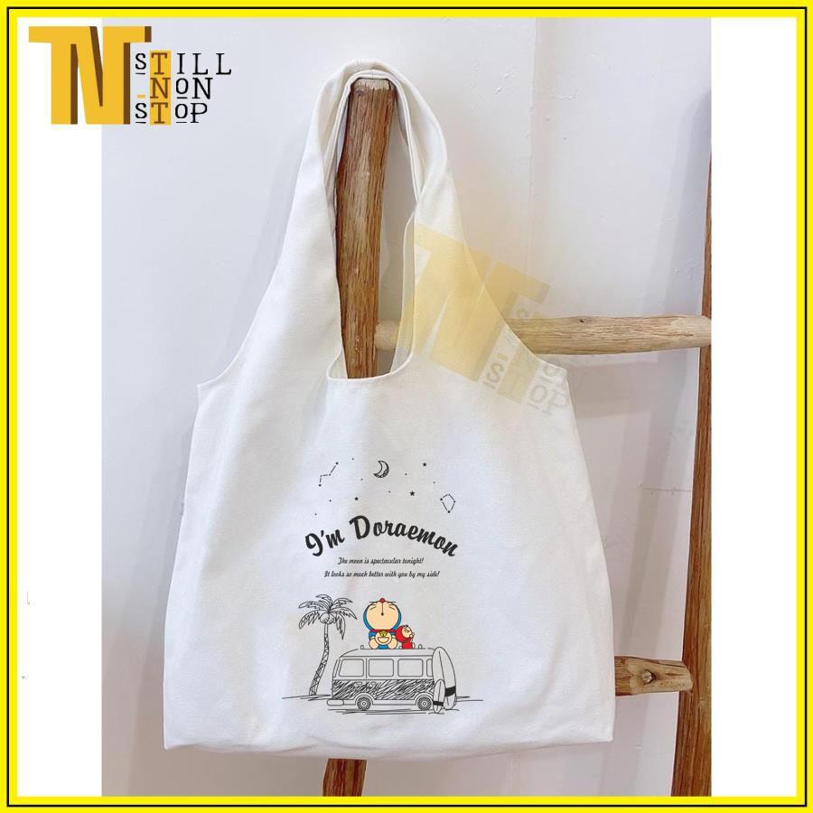 Túi đeo vai , phong cách Hàn Quốc siêu dễ thương (VẢI CANVAS MỀM - QUAI LIỀN) - 9'm DOREMON