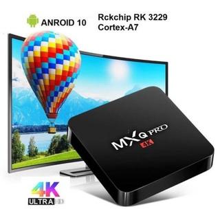 Android TV box MXQ PRO 4K Android:10.1 Đã cài sãn xem truyền hình 200 kênh YouTube Facebook
