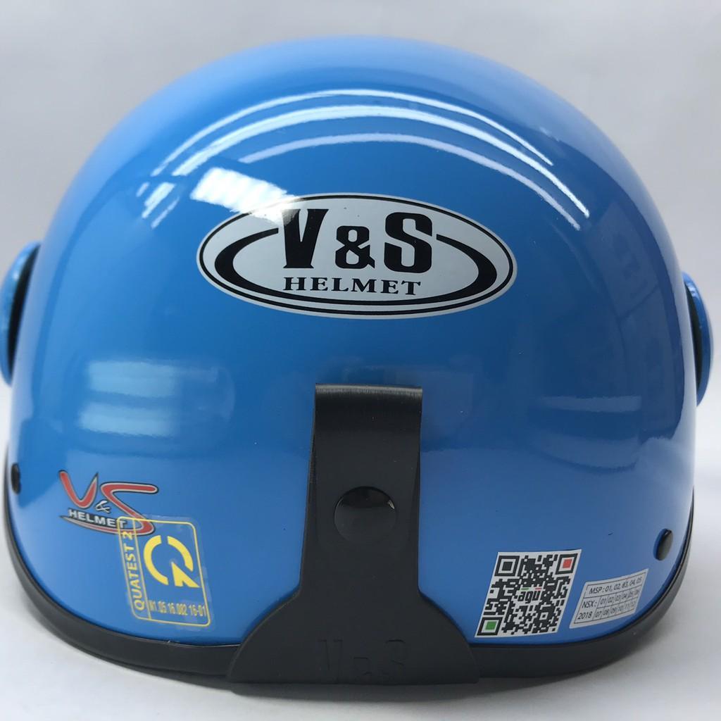 [GIÁ HỦY DIỆT] Mũ bảo hiểm có kính VS xanh nhạt bóng