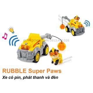 BỘ LỚN Rubble lái xe cẩu có PIN – Những chú chó cứu hộ – Paw Patrol