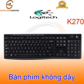 Bàn phím Logitech-Phím không dây Logitech K270 wireless màu đen DGW phân phối thumbnail