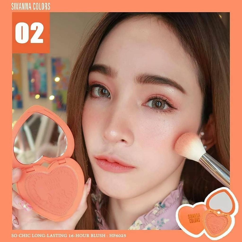 Phấn Má Sivanna So Chic HF6025 | Shopee Việt Nam