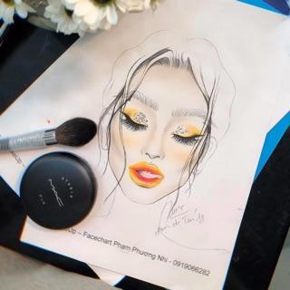 COMBO 10 tờ Facechart Makep. Học Makeup trên giấy.-0