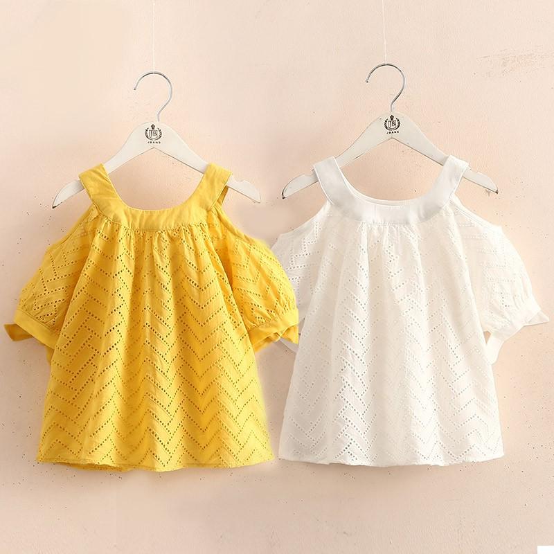 Baby's Show Shoulder Skirt, New Summer Dress for Girls, Chil