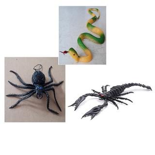 [HÀNG SẴN-SIÊU RẺ] Bộ 3 đồ chơi con Rắn + Nhện + Bọ cạp bằng nhựa shopee. vn|mochi04
