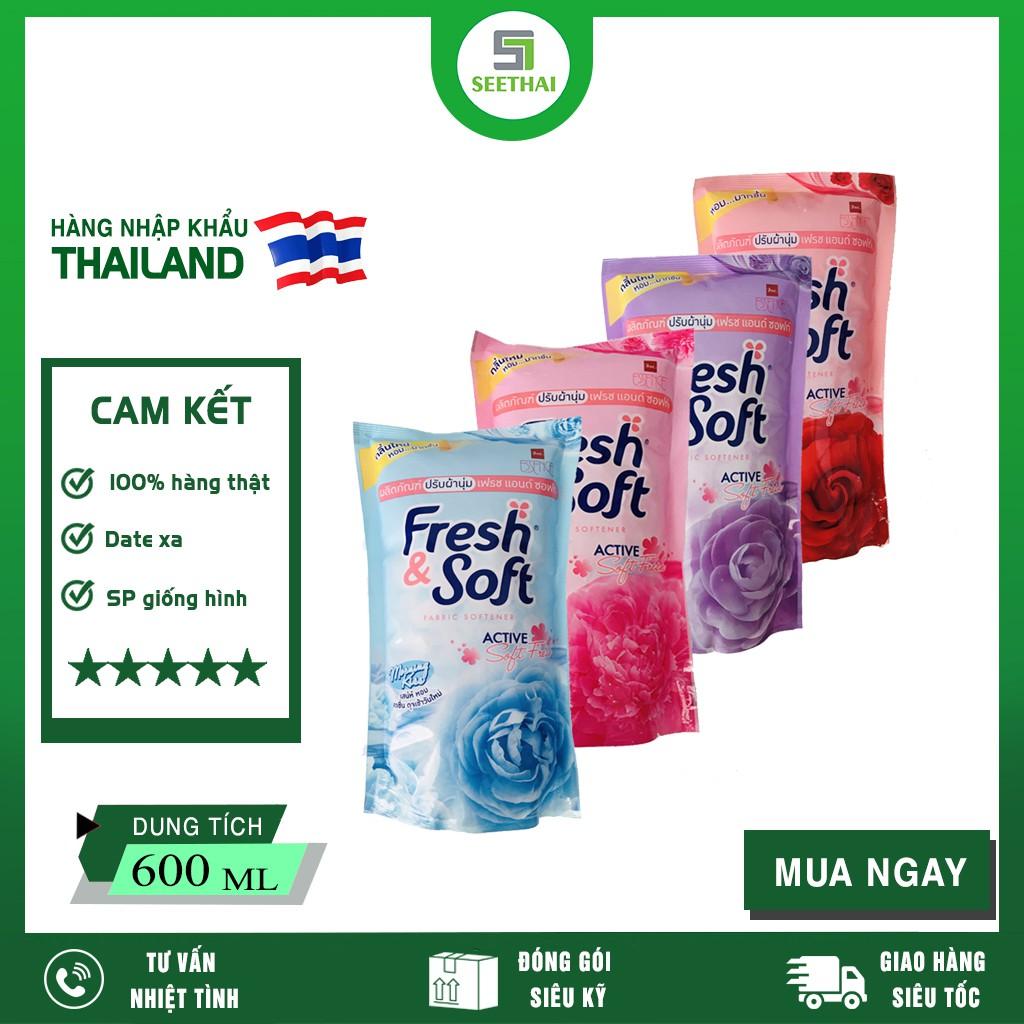 [Mã 267FMCGSALE giảm 8% đơn 500K] Combo 2 Bịch Nước Xả Vải Fresh & Soft Thái Lan 600ml ( Giao màu ngẫu nhiên )