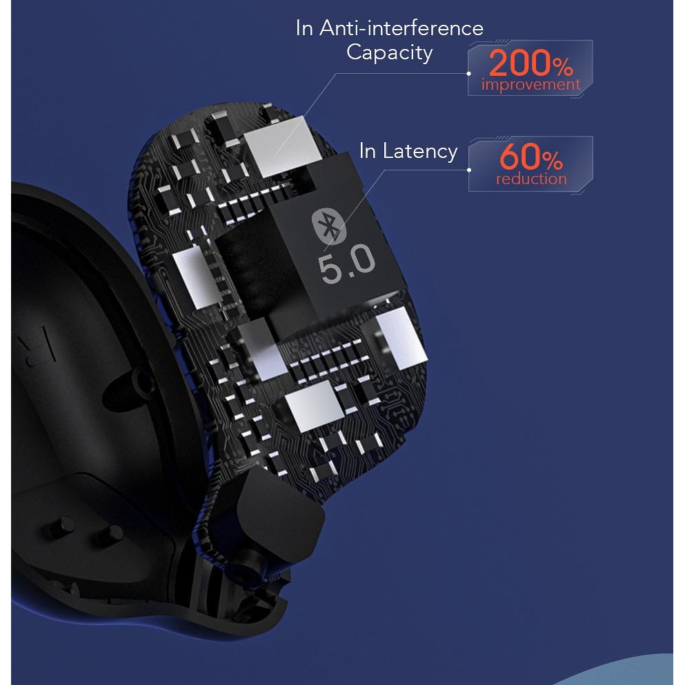 Tai Nghe True Wireless Haylou T15 Tích Hợp Sạc Dự Phòng 2200mAh - Hàng Chính Hãng