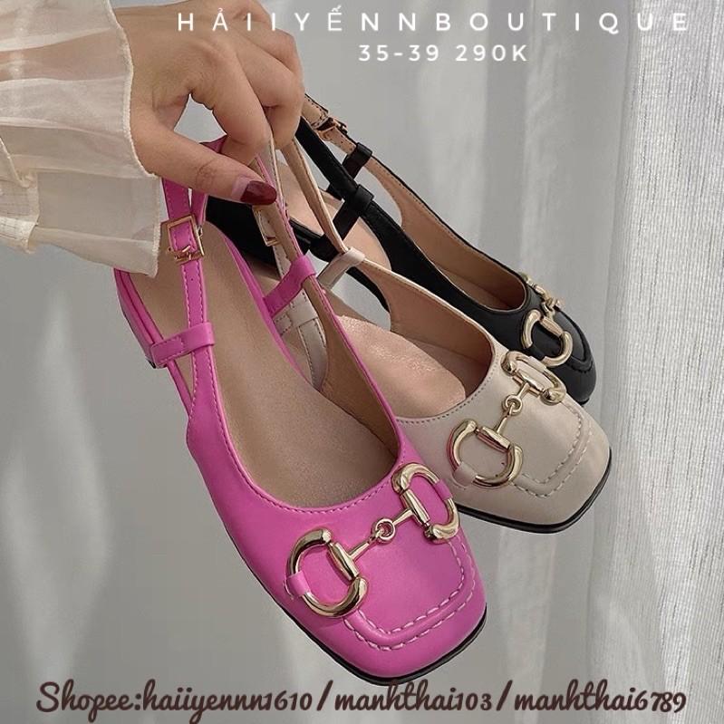 Giày cao gót dây cài đế 2cm ORDER