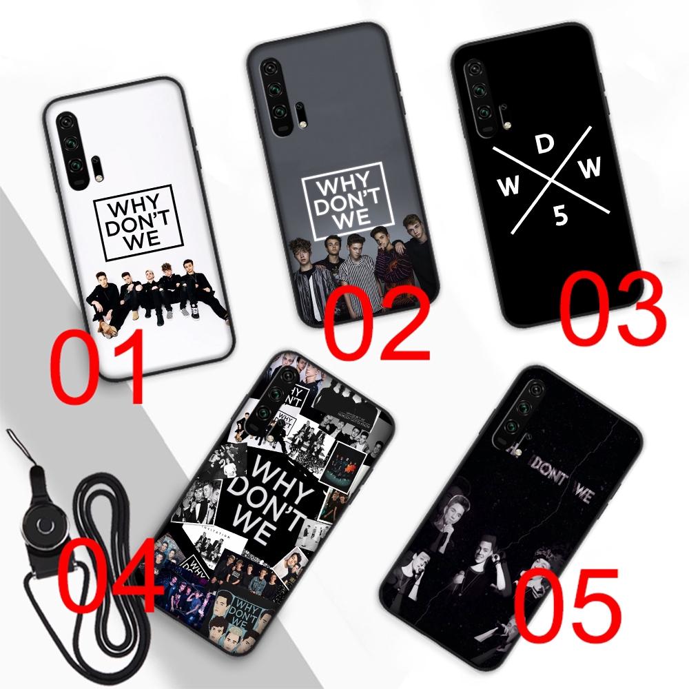 Why dont we Soft Case Huawei Nova 2 Lite 3 4 2i 3i 5i Y6 Y5