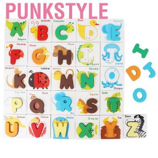Punkstyle Kid Letter Writing Leaning Animal Cognitive Early Educational Card with Storage Bag