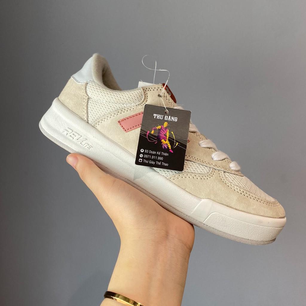 Giày thể thao sneaker NB trắng chữ hồng