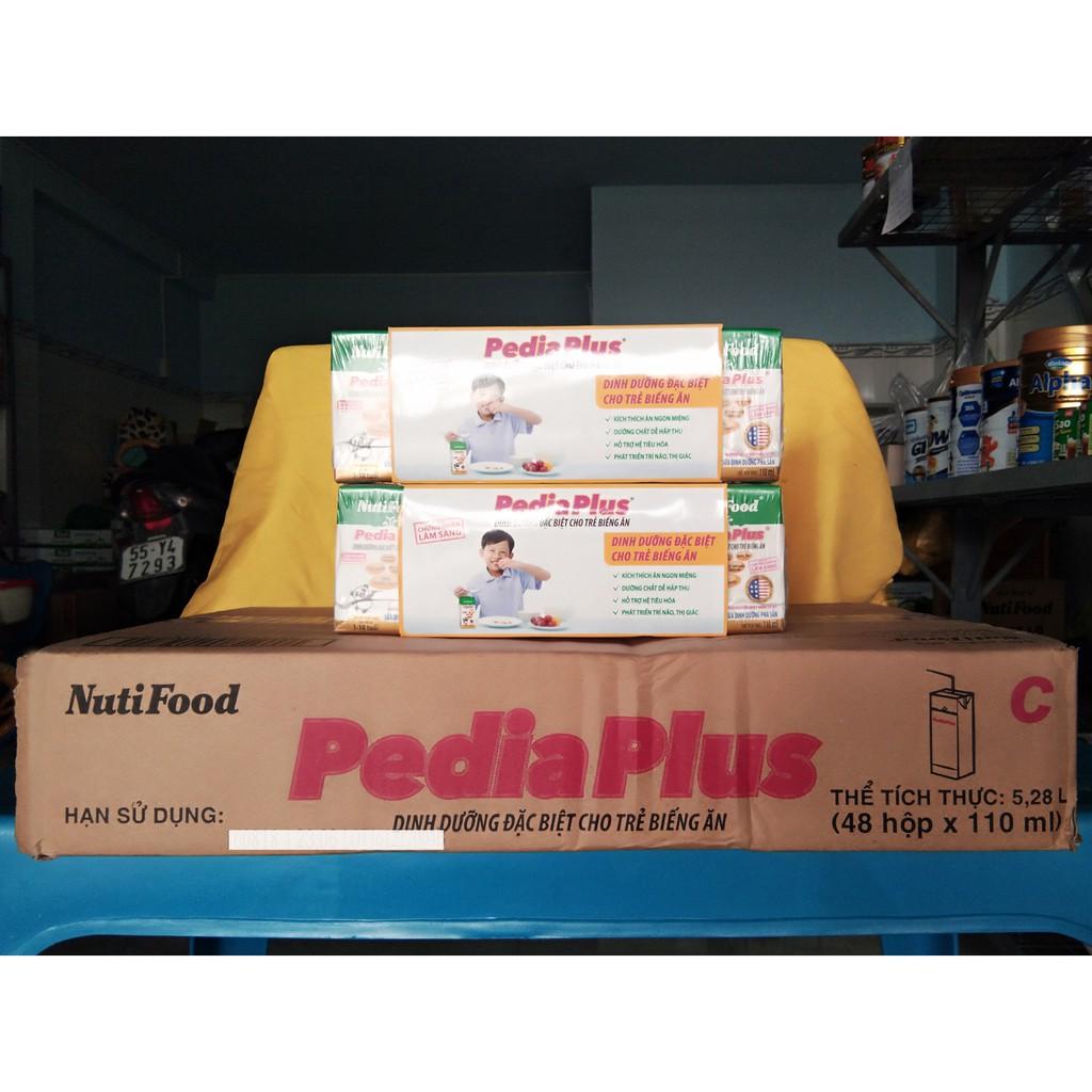 Sữa bột pha sẵn Nutifood Pedia Plus 110ml dinh dưỡng đặc chế cho trẻ biếng ăn
