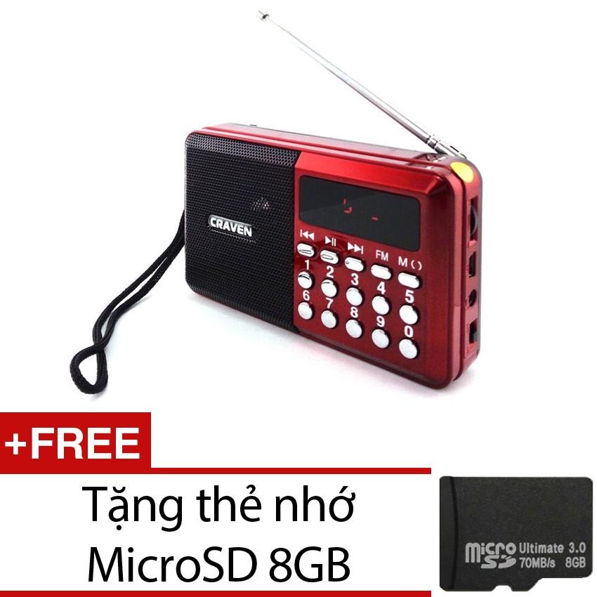 Loa nghe nhạc kèm radio Craven CR-26 (Đỏ) + Tặng 1 thẻ nhớ microSD 8GB - 2531659 , 108247313 , 322_108247313 , 303000 , Loa-nghe-nhac-kem-radio-Craven-CR-26-Do-Tang-1-the-nho-microSD-8GB-322_108247313 , shopee.vn , Loa nghe nhạc kèm radio Craven CR-26 (Đỏ) + Tặng 1 thẻ nhớ microSD 8GB