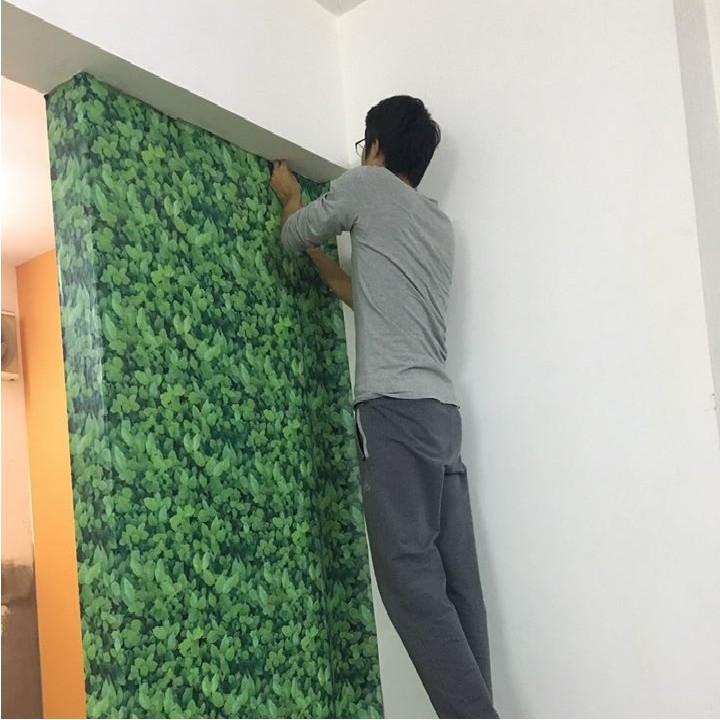 Giấy dán tường 3D ⚡ [𝐂𝐎́ 𝐒𝐀̆̃𝐍 𝐊𝐄𝐎] ⚡ Decal dán tường 3D trang trí phòng ngủ, phòng khách cuộn dài 10m*45cm
