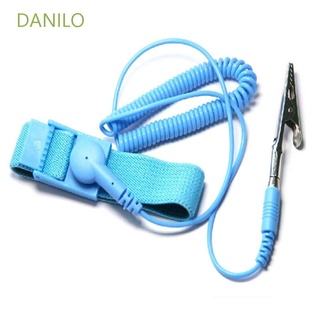 DANILO Prevent Wrist Band Shock Strap Hand Anti Static Bracelet Cable Reusable Electrostatic ESD Wire Adjustable with Grounding Wrist/Multicolor