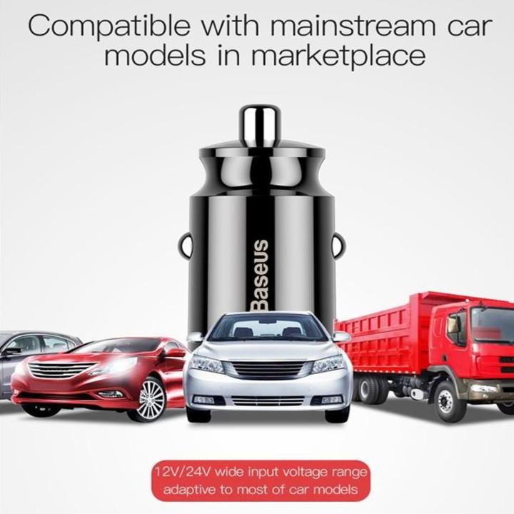 Tẩu sạc trên xe hơi, ô tô cao cấp chính hãng Baseus CCALL-ML01 - Hàng Nhập Khẩu