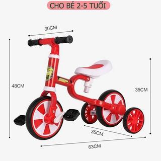 Xe đạp trẻ em,Xe chòi chân thăng bằng Motion 4 bánh có bàn đạp 3 bánh dành cho bé 2 đến 5 tuổi thumbnail