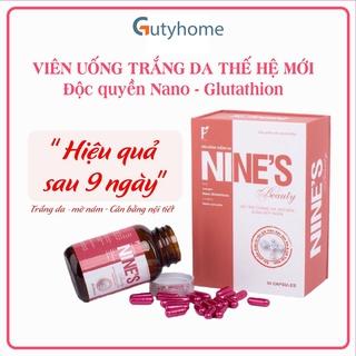 Viên uống trắng da Nines Beauty, viên uống chống nắng, mờ nám da, tàn nhang tăng độ ẩm và đàn hồi cho da thumbnail