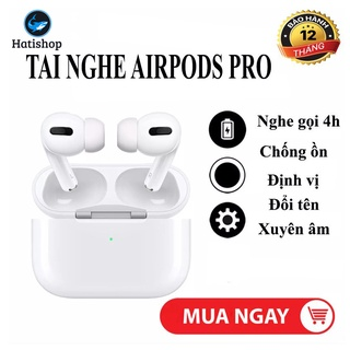[Tai nghe Airpod Pro] Nhét tai Airpods Pro không dây bluetooth Chống Ồn, Định Vị, Đổi Tên. Sạc Không Dây Cao Cấp thumbnail