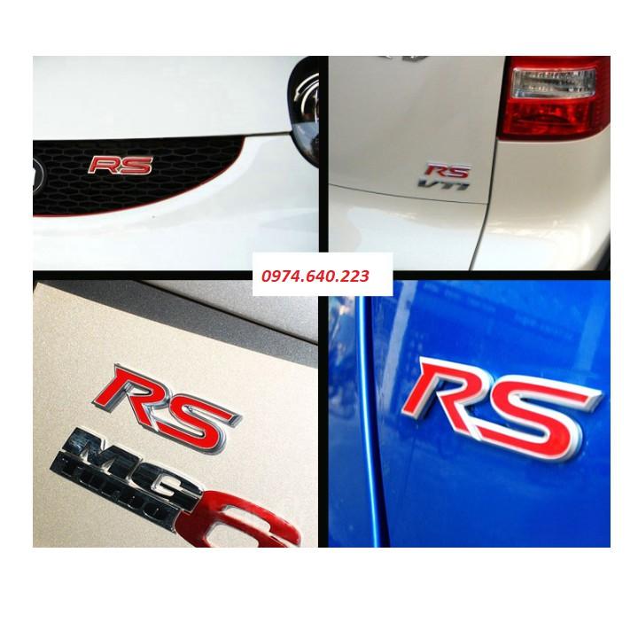 ⚡️Freeship 99k - Toàn quốc⚡️ Tem Decal Trang trí Xe Ô Tô Logo RS 3D
