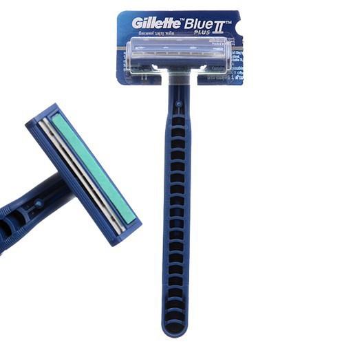 Dao cạo râu lưỡi kép Gillette Blue II Plus CÁN XANH