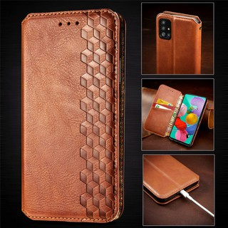 Luxury Leather Wallet Magnetic Flip case For Samsung Galaxy A51 A71 Note 10Lite S10lite Samsung A81 A91 A51-5G PU Leather Card Slot Phone Case With Stand Holder