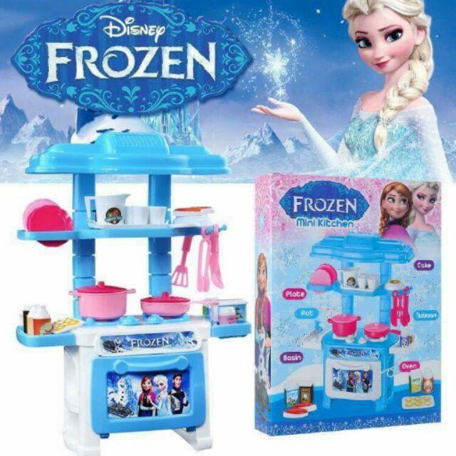 Bộ đồ chơi nhà bếp mini xanh và hồng - Đồ chơi nấu ăn cho bé