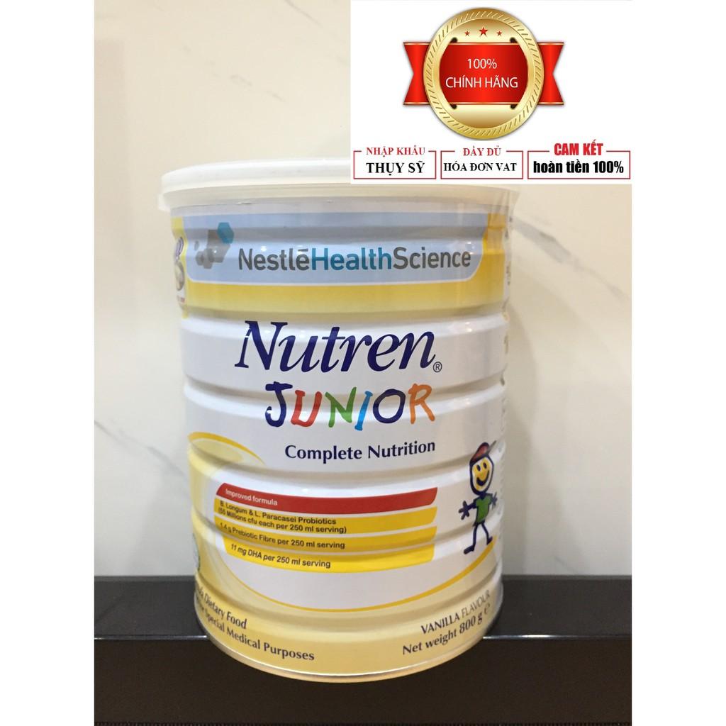 [CHÍNH HÃNG] sữa Nutren junior 800g nhập khẩu Thụy Sỹ (có hóa đơn VAT - Date mới nhất)