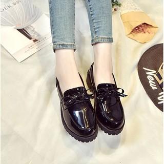 Sale 70% Giày da nữ mũi tròn đế thô phong cách Retro, black35 Giá gốc 250,000 đ - 34A10